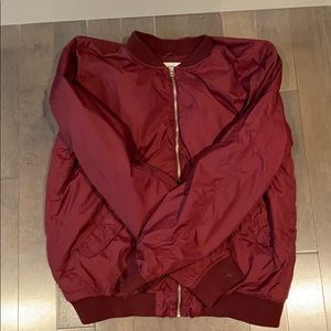 L.O.G.G. Red Bomber Jacket